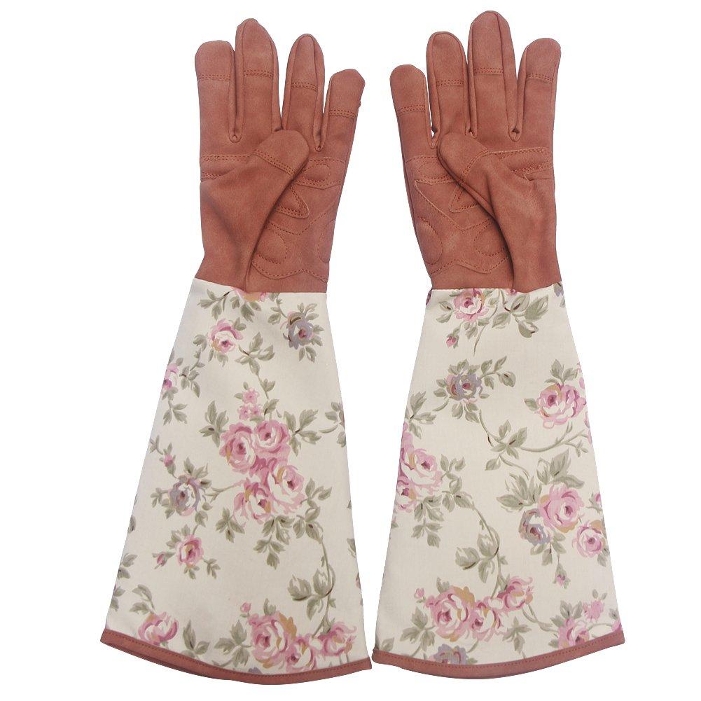 Garden Gloves Leather Rose Pruning Gardening Gloves Puncture Work Gloves Resistant Yard Work Gloves Pruning Gloves FAUX SUEDE for Men Women HCT01#B