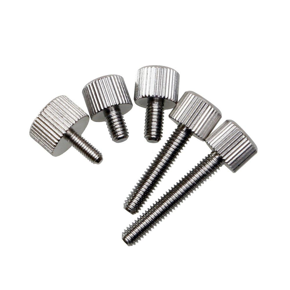 Metrisches M5x20mm R/ändelschrauben 8 St/ück,Edelstahl Silber