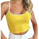 TUDUZ T-Shirt Damen Sommer Damen Schulterfrei Camis Ring Crop Top Leibchen Bluse