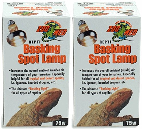 Zoo Med 2 Pack of Repti Basking Spot Lamps, 75 ()