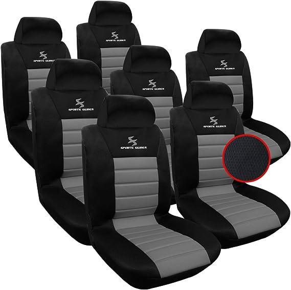 Woltu As7255 7 7er Sitzbezüge Auto Einzelsitzbezug Universal Größe Komplettset Grau Auto