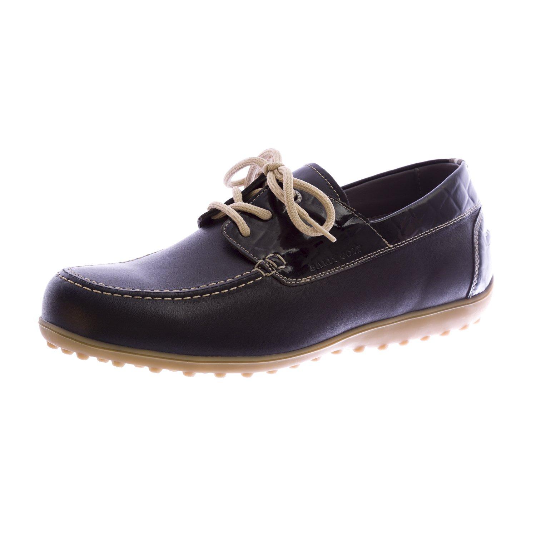 BALLY Golf Women Mocc Plus Golf Shoes 9 Black Croco