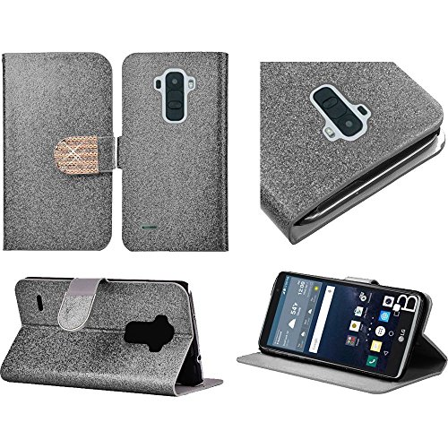HR Wireless Cell Phone Case for LG G Stylo LS770 H631 G4 Stylus Wallet Covers - Silver -  BWC4B-LGLS770-Silv