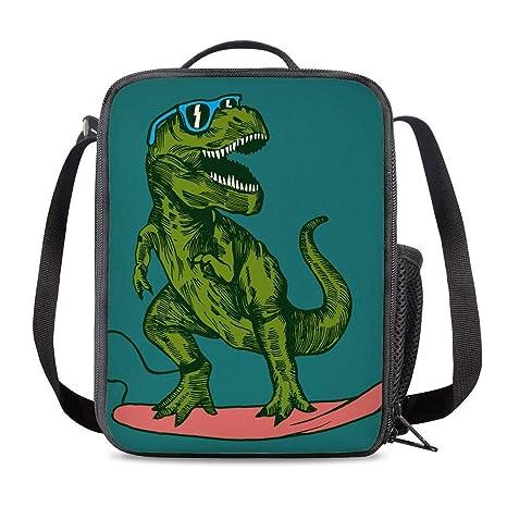 Amazon.com: PrelerDIY Surfing Dinosaurio Fiambrera aislada ...