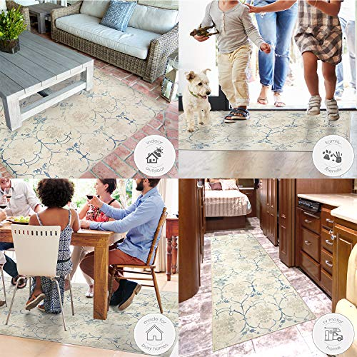 RUGGABLE Washable Stain Resistant Indoor/Outdoor, Kids, Pets, and Dog Friendly Area Rug 5'x7' Amara Grey by RUGGABLE (Image #4)