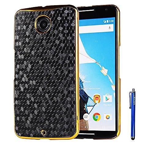 Nexus 6 Case,Vfunn Elegant Plating Hard Back Case Cover for Motorola Google Nexus 6 with 1 Clear Screen Protector 1 Stylus Pen (Nexus 6 Case) (Nexus 6 Cell Phone Case)