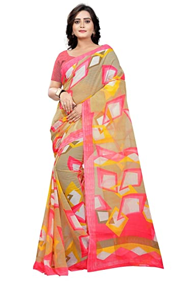 b2bacc9c265bc8 Image Unavailable. Image not available for. Color  Jaanvi fashion Women s  Marble Chiffon Printed Saree ...
