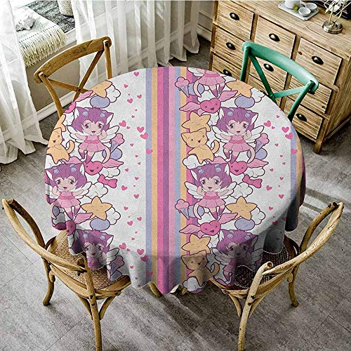 Japanese Mini Vinyl - Rank-T Round Tablecloth Tassel 43