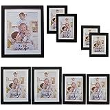 Giftgarden Cornice Portafoto Multiplo da Parete per 9 Foto Nero, 2 da 9x13cm, 2 da 10x15cm, 4 da 15x20cm e 1 da 20x25cm