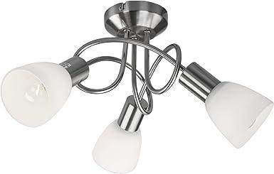 Jago - Lámpara A++ hasta E de techo de 3 luces: Amazon.es: Iluminación