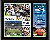 "Seattle Seahawks Super Bowl XLVIII Champions Sublimated 12"" x 15"" Plaque - Fanatics Authentic Certified"