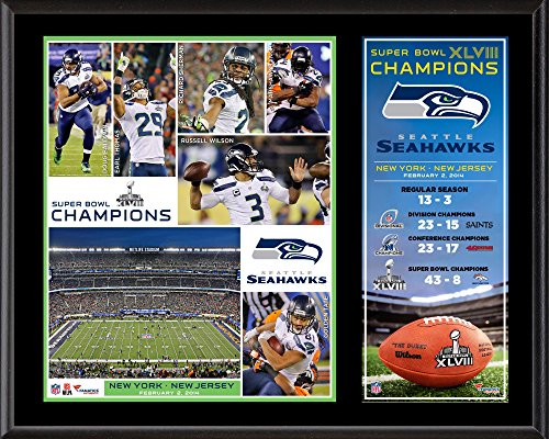 Seattle Seahawks Super Bowl XLVIII Champions Sublimated 12
