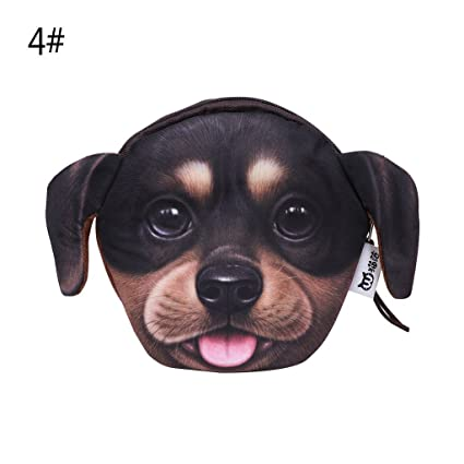 Junlinto Moda 3D Animales Cara de Perro Caja de la ...