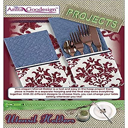 Amazon Com Anita Goodesign Embroidery Designs Utensil Holders