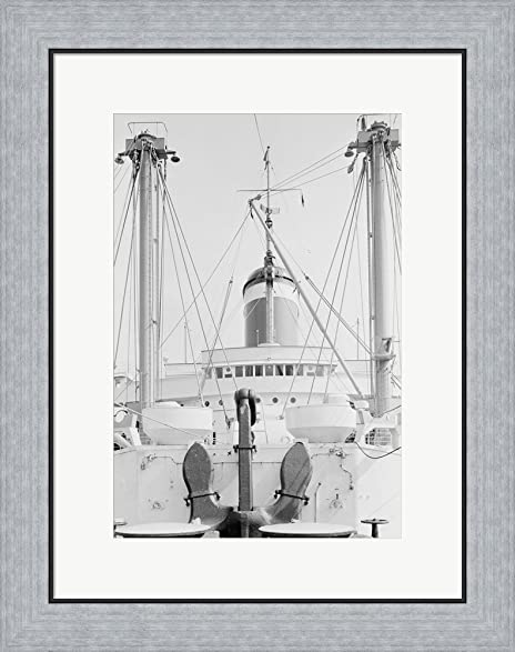 Amazon.com: Anchor on deck, passenger ship in the background Framed ...