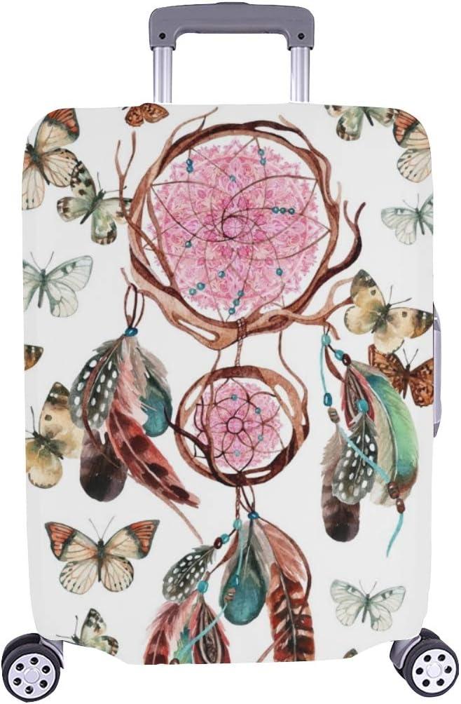 (Solo Cubrir) Dream Catcher Feathers Mandala Acuarela Étnico Stock de ilustración Patrón Maleta con Ruedas Maleta Protectora de Viaje Maleta Cubierta Protectora para 28.5 X 20.5 Inch