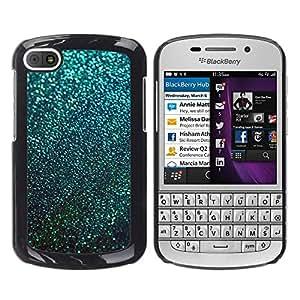 iKiki Tech / Estuche rígido - Teal Snow Winter Stars Abstract - BlackBerry Q10