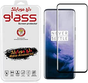 Screen Protector for OnePlus 7 Pro/7T Pro Tempered Glass [Full Adhesive] [Fingerprint Sensor Compatible] -Black