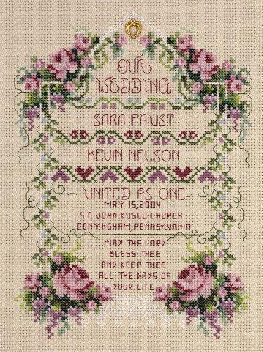 Janlynn Cross Stitch Kit, 8-1/4-Inch by 6-1/4-Inch, Unite...