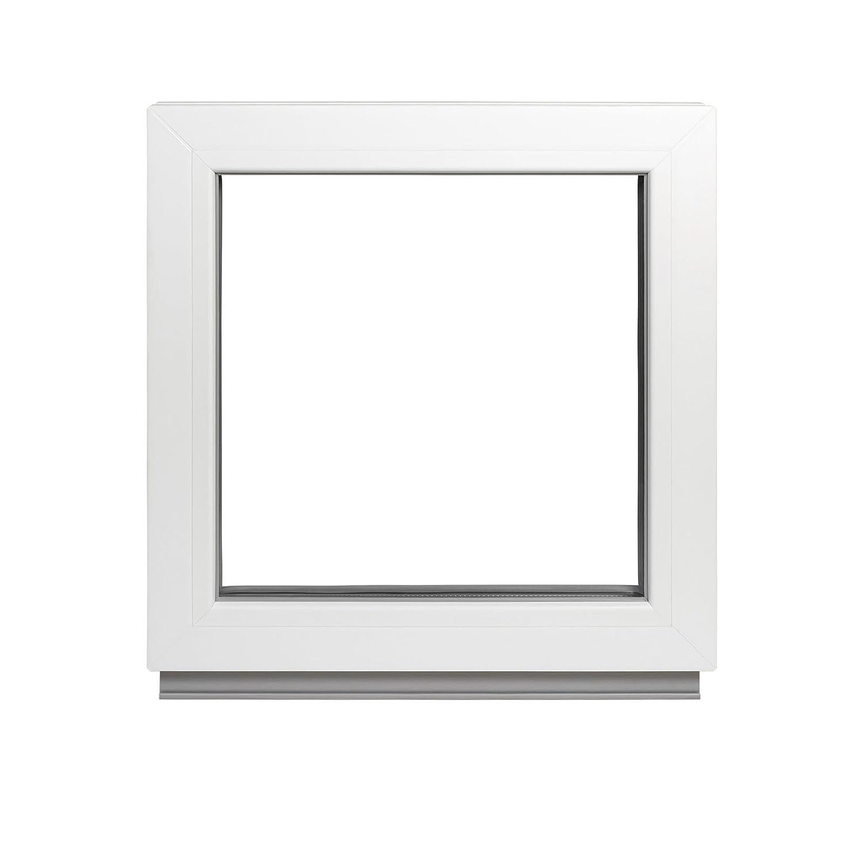 BxH: 90x50 cm Kellerfenster Festverglasung 4//24//4 FIB 2 Fach Verglasung Fenster Kunststoff - Premium Breite: 90-32 mm