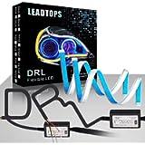 LEADTOPS Flexible Led Light Strip 2 Pcs 24 Inch Dual Color LED Headlight Surface Strip Tube Light White & Amber Daytime…