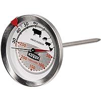 Xavax 2 in 1 Digitales Funk Bratenthermometer mit Küchenuhr, tragbarer Funkempfänger im Handy Format, Grillthermometer Ofenthermometer Fleischthermometer