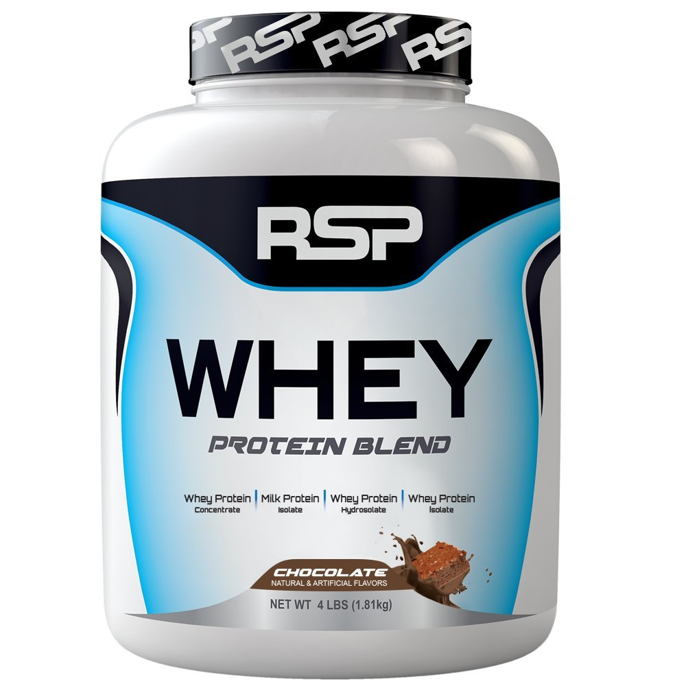 RSP Nutrition Whey Protein Powder Blends, Chocolate, 4 Pound