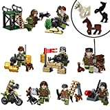 Best Minifigures For Ages - Minifigures 9pcs Army with Military Weapons Accessories Interchangeable Review