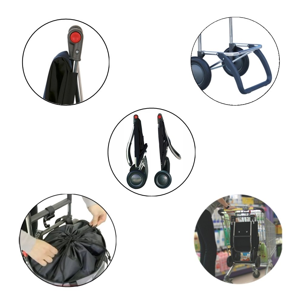 ROLSER Einkaufsroller Logic RG RG RG   Mini Bag Plus MF, MNB009, 41 x 32 x 105,5 cm, 18 - 41 Liter, 40 kg Tragkraft, schwarz B00ZAJT962 Einkaufstrolleys 327733