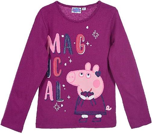 Peppa Pig T-shirt /à manches longues en coton pour fille