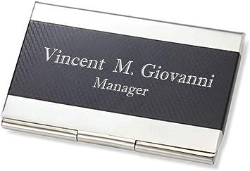 Custom Engraved Business Card Case
