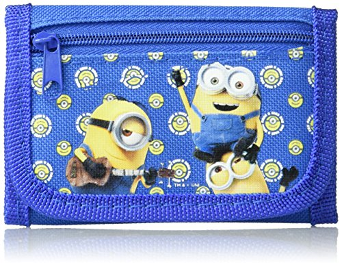 Despicable Me Minions Authentic Licensed Trifold Wallet (Blue) -
