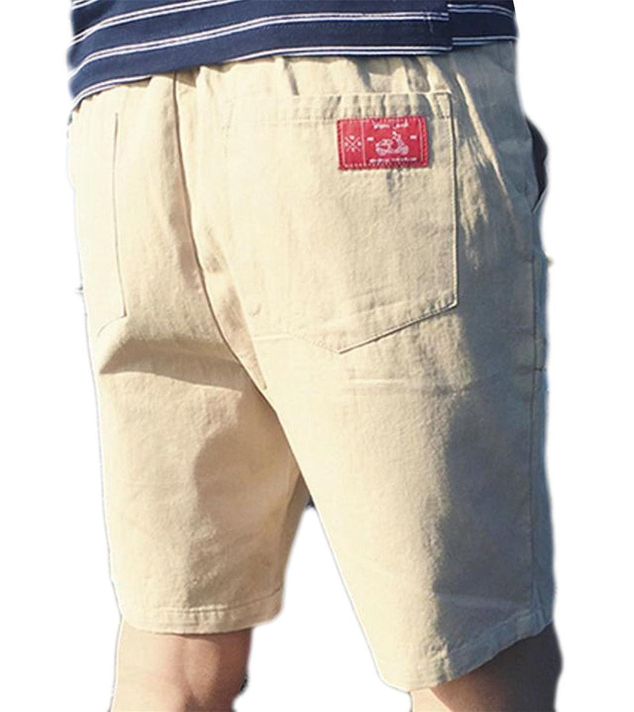 Cheap Cromoncent Mens Casual Bermuda Drawstring Elastic Waist Pocket Beach Shorts supplier
