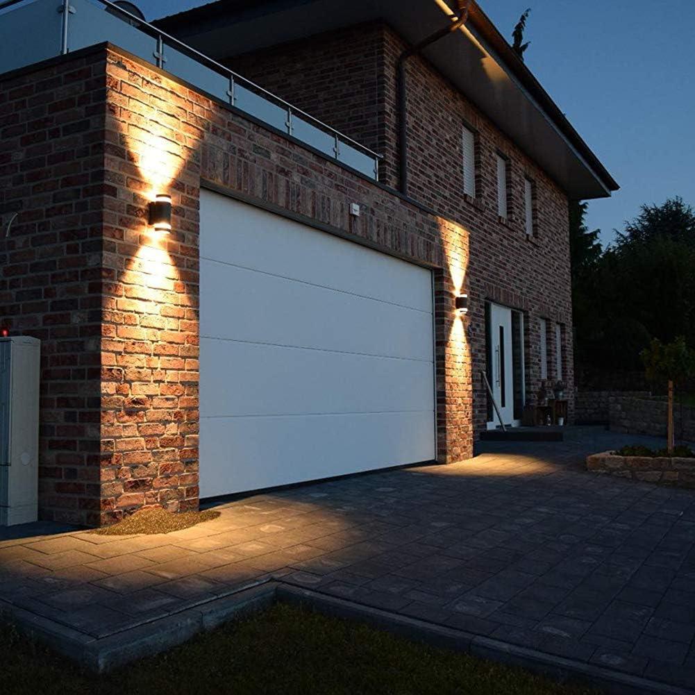 GU10 Anthrazit Aluminium Up and Down Au/ßenlampe Au/ßenleuchte LASIDE Aussenleuchte Aussenlampe Wand IP44 Spritzwassergesch/ützt Wandlampe Wandleuchte Lampe Aussen Au/ßen Leuchte f/ür Garten Terrasse