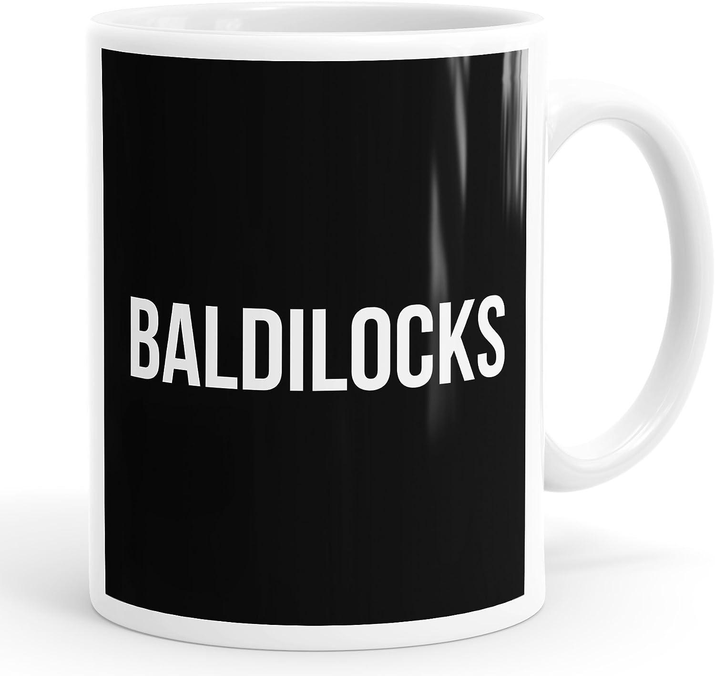 Baldilocks funny mug for bald men