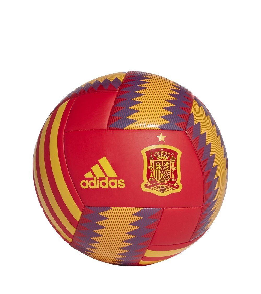 Balón España 2017-2018 Red-Gold-Tri blue Talla 4: Amazon.es ...