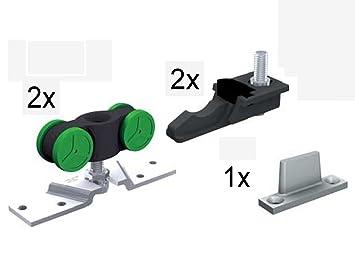 Schiebetür schiene  Mantion Schiebetür Beschlagsbeutel MA 40 für Schiebetür bis 40 kg ...