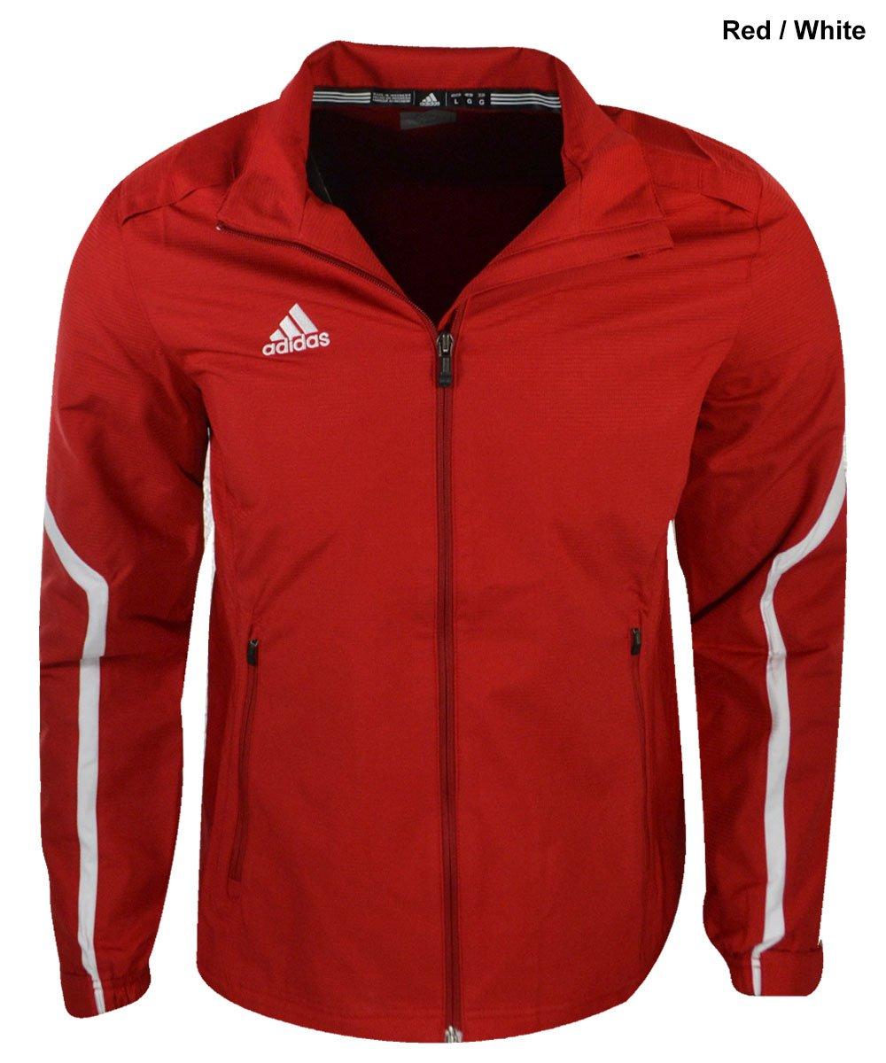 Adidas Women Jacket - Team Style Performance Sport Full Zip - Ladies Womens Cut Track Jacket (M, University Red )
