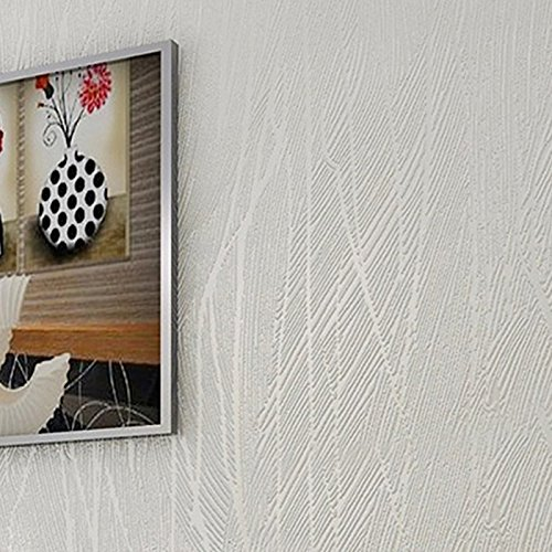 homdox wallpapers modern non woven embossed flocking antistatic dustproof moistureproof anti bacterial for livingroom bedroom kitchen bathroom white - Wallpaper For Bathroom