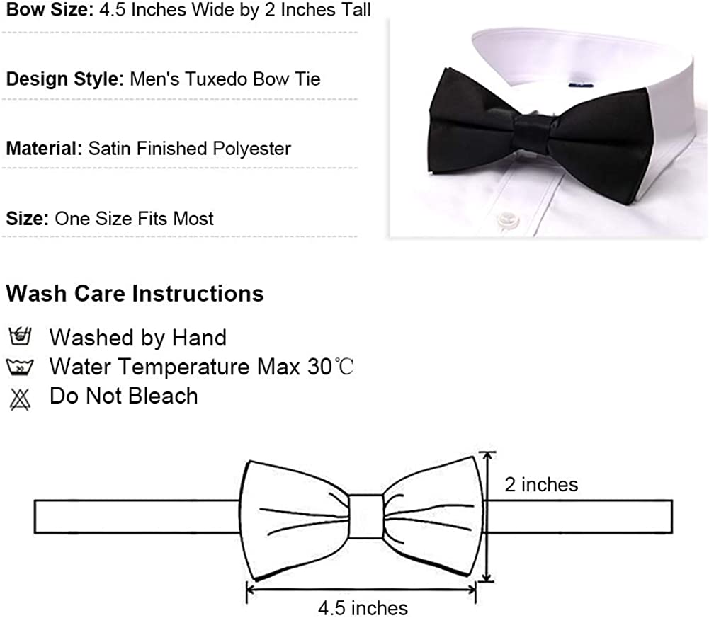 TopTie Mens X Back Suspender and Pre Tied Bowtie Set for Formal Event 2 Pieces