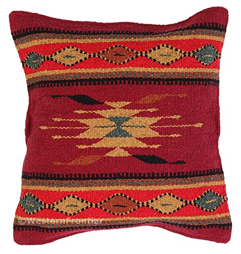 Aztec Throw Pillow Covers, 18 X 18, Hand Woven in Southwest