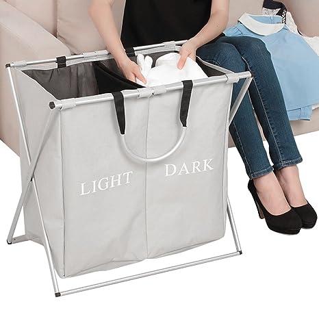 Plegable cesta para la ropa sucia (luces Darks plegable Oxford tela ropa sucia ropa bolsa