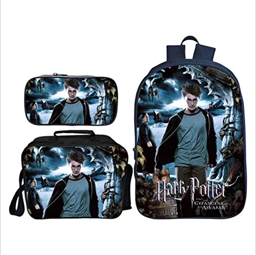 ZHENG 3D Impresión Harry Potter Niño Bolsa para la Escuela ...