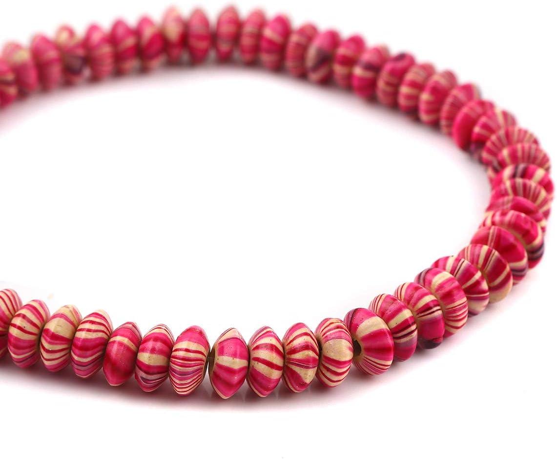SiAura Lot de 1 perles en bois avec trou de 2,3 mm et motif /à rayures pour loisirs cr/éatifs 8 mm