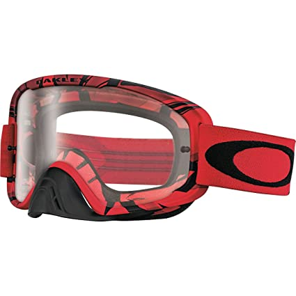 07dafe17fa7 Amazon.com  Oakley O2 MX Intimidator Men s Dirt Off-Road Motorcycle Goggles  Eyewear - Blood Red Clear   One Size Fits All  Automotive