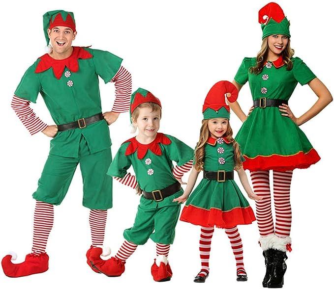Xinvivion Disfraz de Elfo para Navidad - Familiares Traje de ...