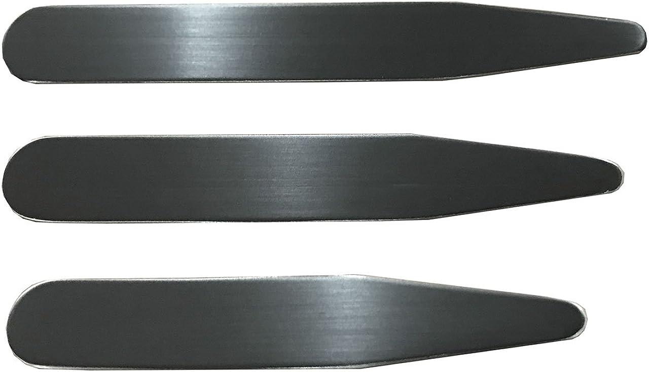 Lot de 6PCS Baleine Col Collar Gravure Personnalis/ée Chemise Collar Stays Collier Sejours Acier Inoxydable 3 Tailles PiercingJ