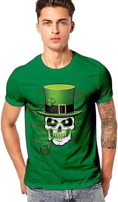 Manga Corta Camiseta para Hombre 3D Moda Estampado con ...