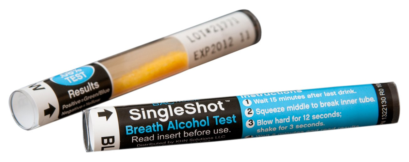 BACtrack SingleShot Disposable Breath Alcohol Tester Breathalyzer 0.02 %BAC Threshold, (Pack of 50)