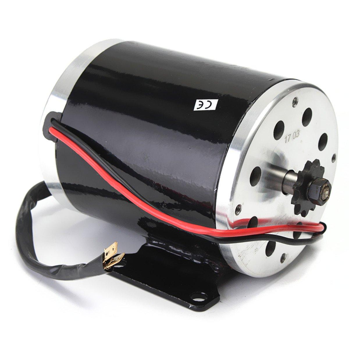 Alamor 24V 500W 28.5 A el/éctrico Cepillado Motor 2500Rpm w//Soporte para Scooter E-Bike Mini Bike go Kart